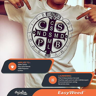 "SISER EasyWeed Heat Transfer Vinyl Tshirt /Textile Thin HTV 12"" x 60"" (5ft)"
