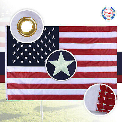 5X8 Ft American Flag US Flag United States Embroidered Stars  Brass Grommets 3