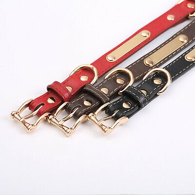 PU Personalized Dog Collars Name ID Collar with Nameplate Engraved XS-XL 3