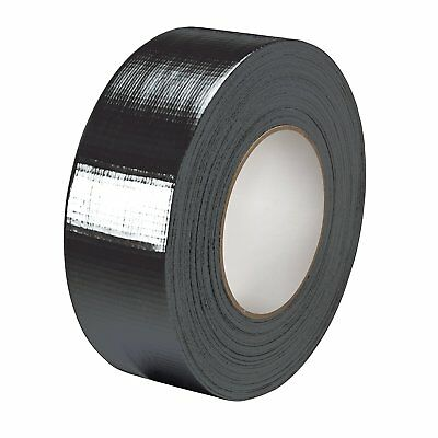 Big Rolls Of Black Cloth Duct Gaffer Gaffa Tape50Mm X 50M Strong Water Resistant