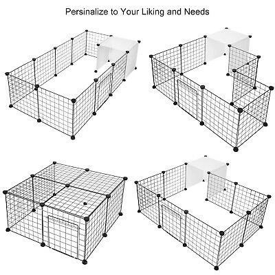 14-Panels Dog Rabbit Pet Playpen Cage Metal Wire Yard Fence for Small Animals 4