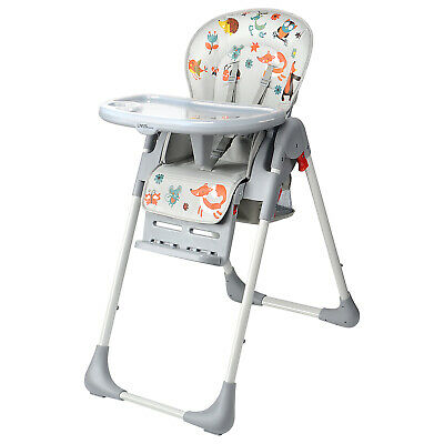 New Baby High Foldable Convertible Table Seat Booster Toddler Feeding Highchair 2