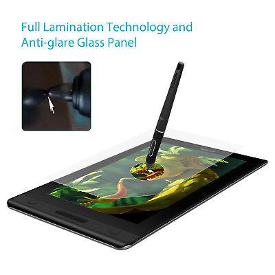 USED HUION KAMVAS PRO 12 Graphics Drawing Battery Free Pen Tablet Monitor Tilt 5