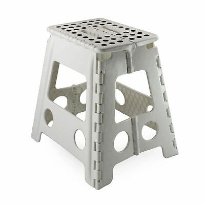 Large Multi-Purpose Fold Step Stool Plastic Home Kitchen Foldable Easy Assorted 5