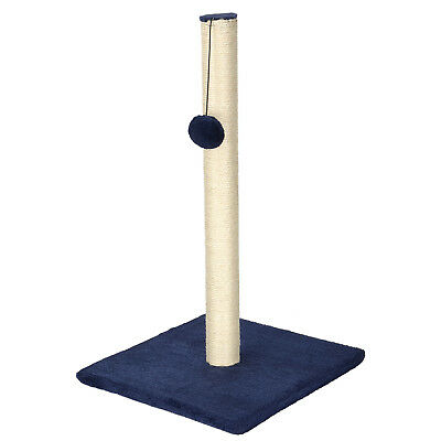 LIVINGbasics® Cat Scratch Play Post Kitten Scratching Pole Stand With Toy Ball 3