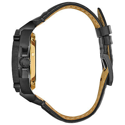 Bulova Grammy Edition Precisionist Men's 98B293 Black Leather Strap 46.5mm Watch 2