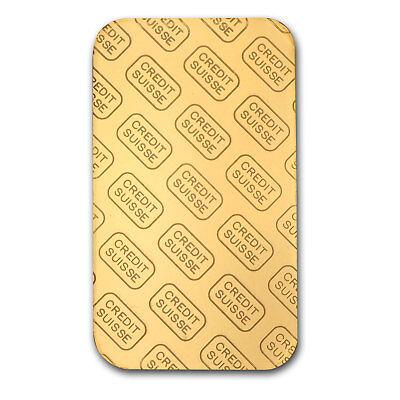1 oz Credit Suisse Gold Bar In Assay .9999 Fine - SKU #82687 4