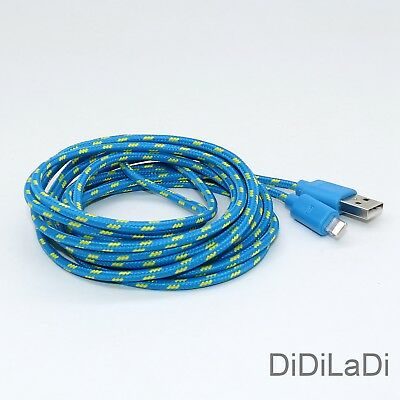 1/2/3M Braided Lightning USB Charger Data Sync Cable For iPhone 6 7 8 Plus X XR 8