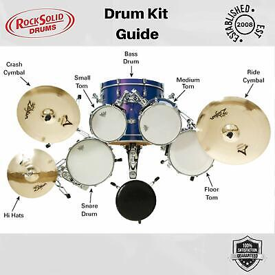 Silencer Practice Pads Mutes for Drum Kit -  CHOOSE YOUR SIZES - 8 Pad Set 5