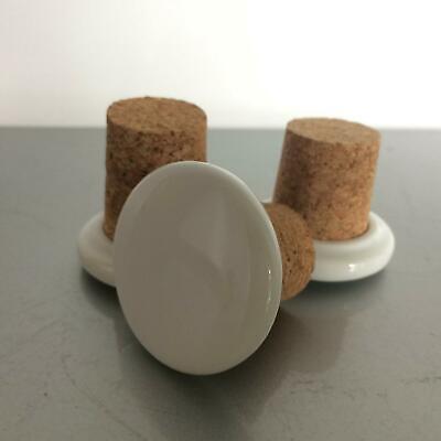Stopfel Set Porzellan mit Kork Verschluss Flasche Flaschen (a49) 4