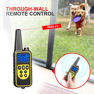Dog Shock Collar With Remote Waterproof Electric for Large 875 Yard Pet Training 4