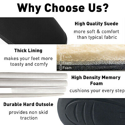 Men's Plush Warm Ankle Bootie Slippers Fuzzy Memory Foam Winter House Shoes 3