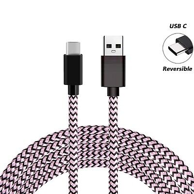 For Samsung S8 S9+ Note9 A5 Type C Data Sync Charger Charging Cable Braided USB 7