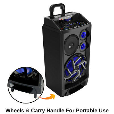 Portable Karaoke Machine Home Audio Bluetooth Speaker System Wireless Microphone 4