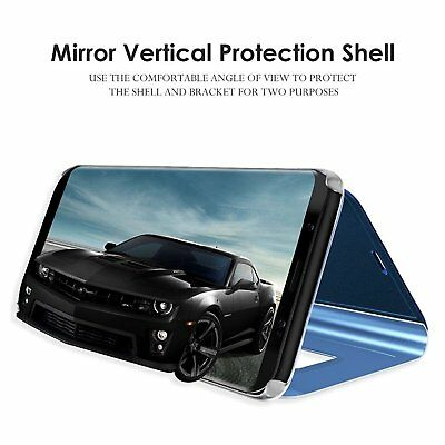 Smart Mirror Clear Luxury Flip Case Cover Samsung Galaxy S8 S9 Plus Note 8 9 10+ 7