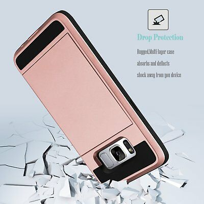 Shockproof Wallet Credit Card Holder Protective Case Cover Fits Samsung Galaxy 6