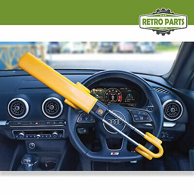 Heavy Duty Steering Wheel Lock for Vauxhall. Twin Bar High Security Hi-Vis 3
