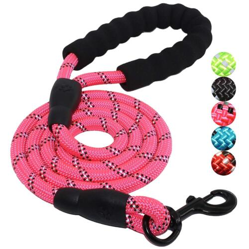 Multi-Color 5FT Strong Dog Leash Climbing Rope Reflective Thread Night Safe 2