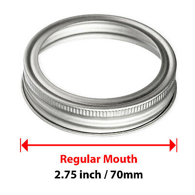Canning Jars Regular, 480 pcs Mason Carbon Steel Screw Bands Rings for Ball