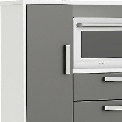 k chenschrank 8540 schrank k chenregal k chenm bel mikrowelle buffet k che wei eur 214 80. Black Bedroom Furniture Sets. Home Design Ideas