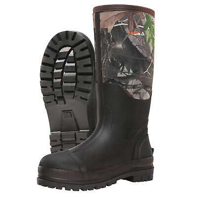 HISEA Men's Muck Work Boots Rubber Neoprene Insulated Breathable Hunting Boots 6