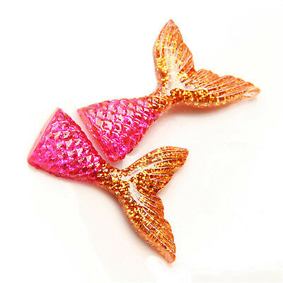 10pcs/lot kawaii resin mermaid tail DIY flatback resin cabochons accessories 11