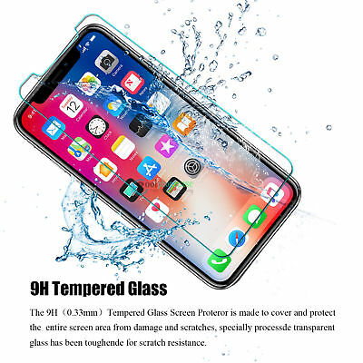 "... Ultra-Clear 2.5D Tempered Glass Screen Protector Film iPhone Xs Max 6.5"" /"