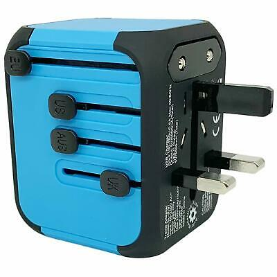 JOLLYFIT Universal Travel Adapter 5A Smart Charger (Blue Type-C and 3 USB Port) 3