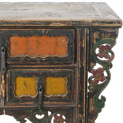"""Antique Chinese Asian 43 """" Wide 3 Drawer Table Coffer Cabinet Vanity 3"""