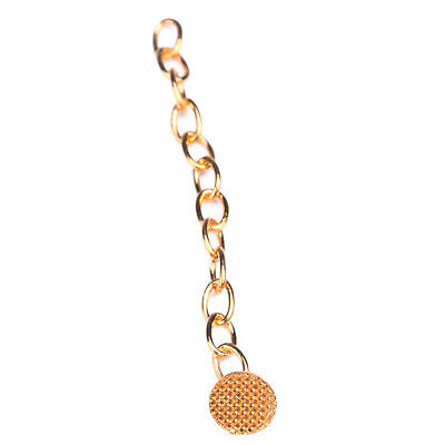 2 Pcs Dental Orthodontic Golden Round Mesh Base Lingual Buttons Traction Chain
