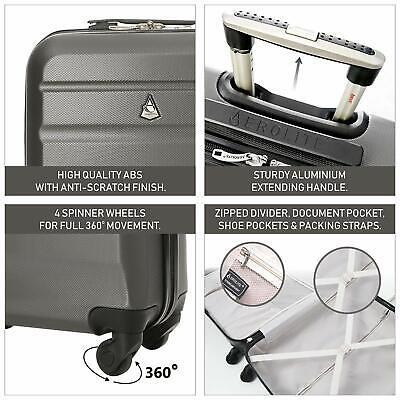 Aerolite Lightweight Luggage Set ABS Hard Shell 4 Wheel Spinner Suitcase 3-Piece 4