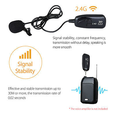 PRO 2.4G Wireless Microphone Lapel-on Voice Amplifier MIC Receiver & Transmitter 9