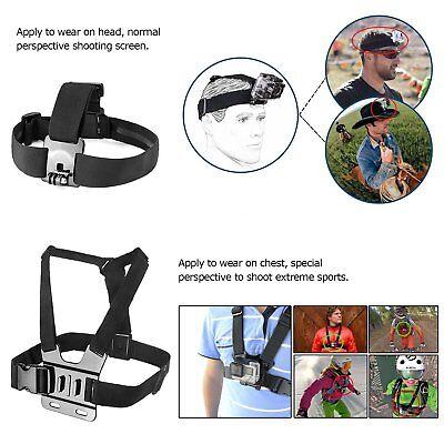 Head Wrist Strap Suction Cup Mount Camera Kits for SJCAM Xiaomi Yi Eken H9 Gopro 5