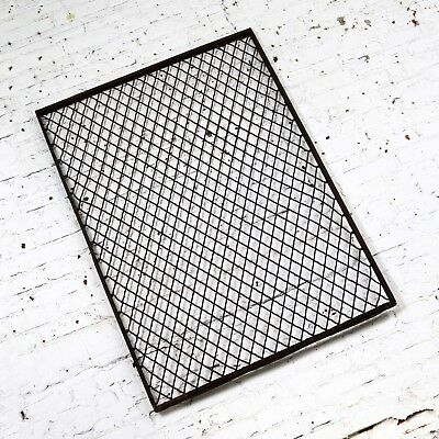 Antique Primitive Industrial Woven Wire Window Security Guard 4
