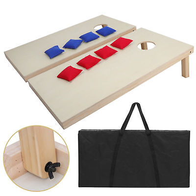 Unfinished Solid Wood Bean Bag Toss Cornhole Board Game Set  Size 4x2' 8