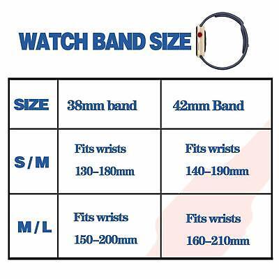 Sports Silicone Bracelet wrist band F Apple Watch Series 5 4 3 2 1-38 40 42 44mm 12