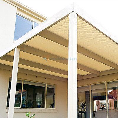 0740d956ffcf ... 8 Fabric Roll Fence Privacy Sun Wind Screen UV Block DIY Shade Cloth  Brown Beige 6