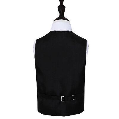 DQT Woven Greek Key Patterned Black Boys Wedding Waistcoat 2-14 Years