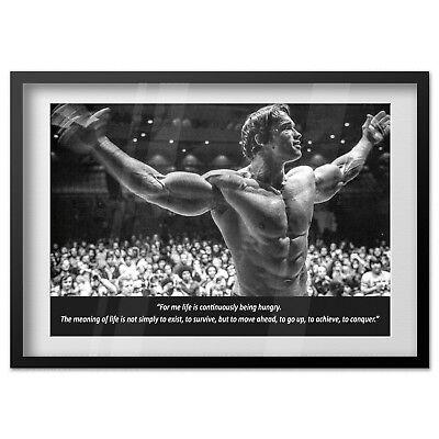 Arnold Schwarzenegger Motivational Poster - High Quality Prints 2