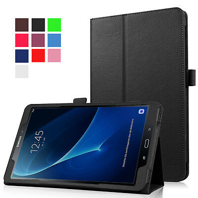 """For Samsung Tab A 8.0 10.1 E 9.6"""" Tablet PU Leather Flip Cover Case Litchi Grain 2"""