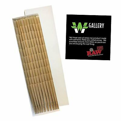 RAW 20 Classic King Size Cones, 109mm Pre Rolled Hemp Cones, W Gallery Box 2
