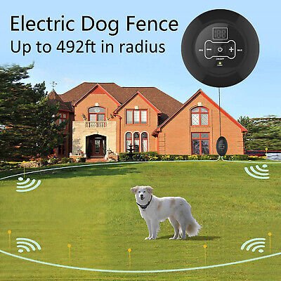 Wireless Electric Dog Fence Pet Containment System Shock Collars For 1/2/3 Dogs 2
