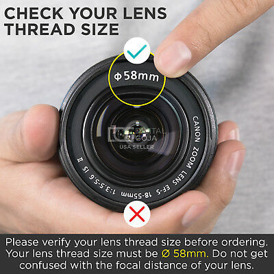 Altura Photo® 58MM .43x Wide Angle Lens with Macro for Canon DSLR Cameras 3