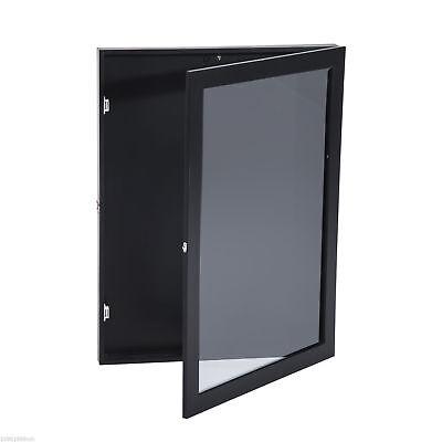 "31.5"" Hockey Jersey Display Case Frame Shadow Box Football Baseball Black Wood 3"