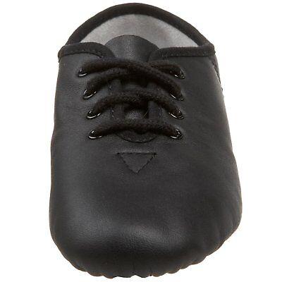 JAZZ DANCE SHOES Black unisex Leather split suede sole pumps irish hard jig (CC) 4