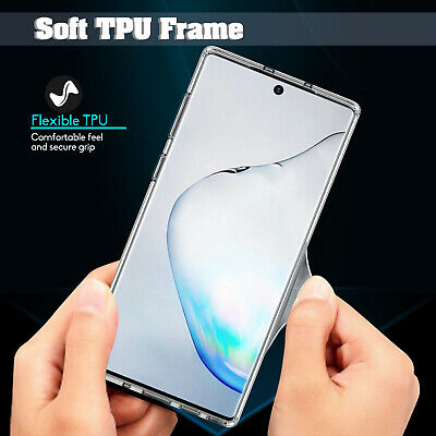 For Samsung Galaxy Note 10+ Plus Pro Hybrid Crystal Clear Armor Phone Case Cover 4