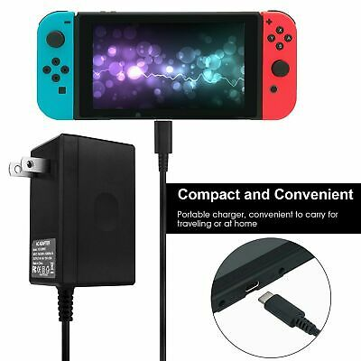 AC Adapter Power Supply Wall Charger For Nintendo Switch Dock & Pro Controller 5