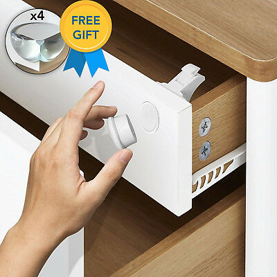 Invisible Safety Baby Magnetic Cupboard Drawers Lock Door Child Baby Pet Proof 7
