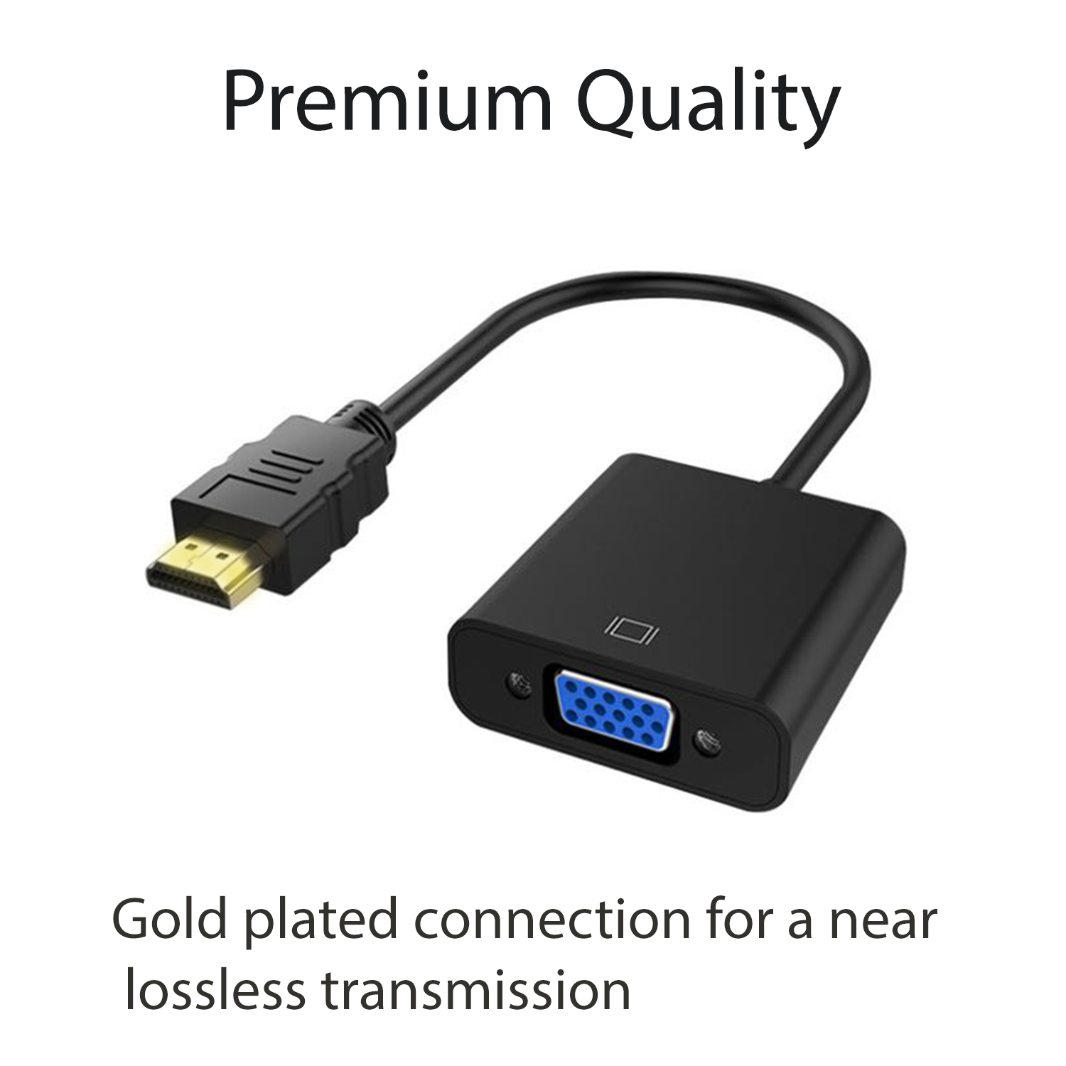 HDMI Male to VGA Female Adapter AV Video Cable Cord Converter For PC HDTV 1080 4