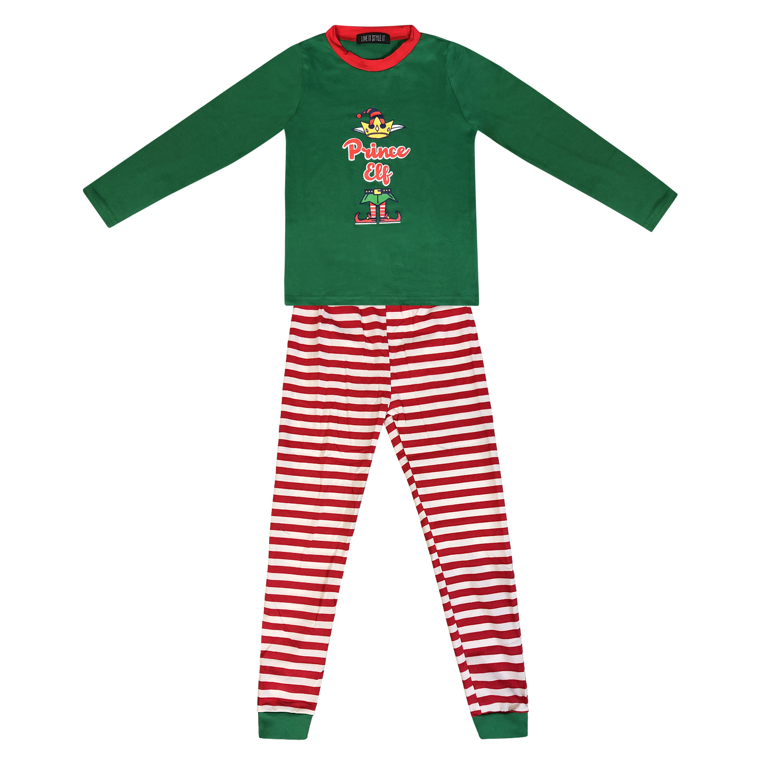 Family Matching Christmas Pyjamas Elf Pajamas Kids Boys Xmas Pjs Girls Nightwear 4